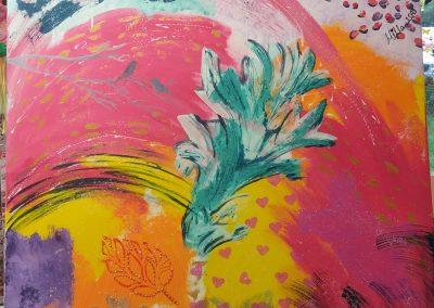 Acrylfarben auf Leinwand