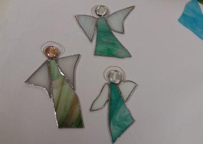 Engeln aus Tiffanyglas